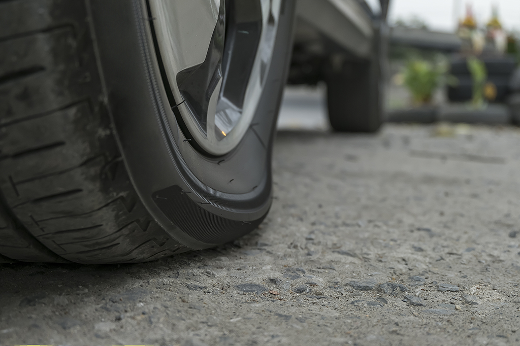 Underinflated tyre