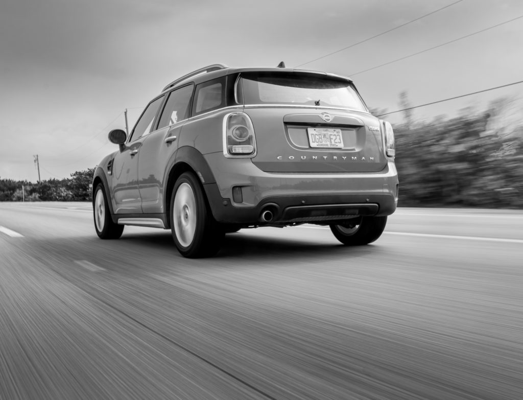 MINI Countryman driven on American roads.