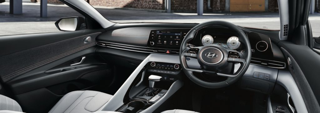 Dashboard of a 2021 Hyundai Avante (Elantra)