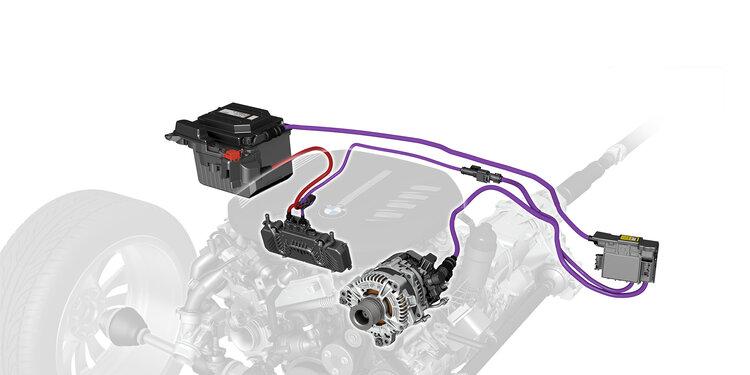 BMW 48V mild hybrid system