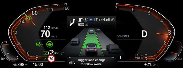 BMW Live Cockpit digital infotainment system